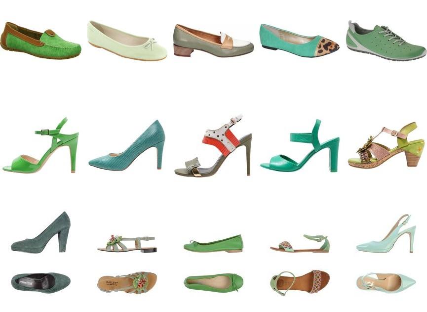Grüne Damenschuhe